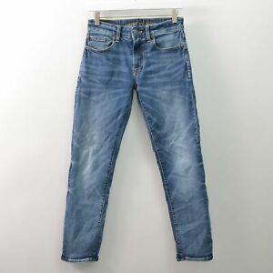 American Eagle Slim Straight Next Level Flex Blue Jeans Mens 28X30