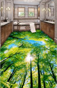 3D Árbol verde soleado 89 Impresión De Parojo Murales Papel de parojo de piso AJ Wallpaper Reino Unido Limón
