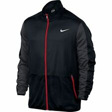 1NWT Men's NIKE Big & Tall RIVALRY Dri Fit Full Zip Jacket BLACK/RED 3XL