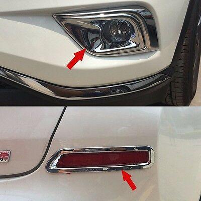 Chrome Front Fog Light Lamp Cover Trim Molding Fit For Nissan Murano 2015-2018
