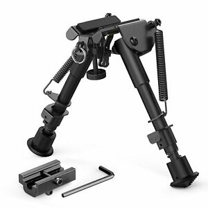 Tactical 6-9inch Harris style Rifle Gun Bipod Swivel Model w// Built in Pod-lock