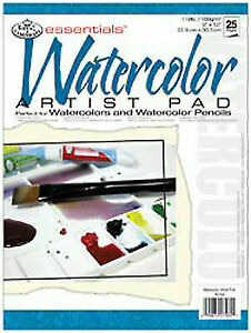 "TM essentials Watercolor Artist Paper Pad 5/""X7/""-15 sheets"