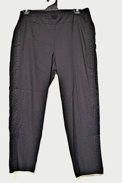 TS pants TAKING SHAPE plus sz S/ 16 'The Places You'll Go' lace trim stretch NWT