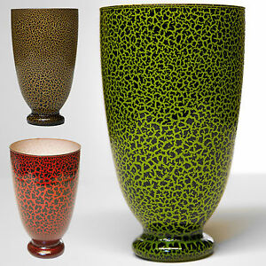 Blumenvase-Glas-Dekovase-Tischvase-Rot-Gruen-oder-Braun