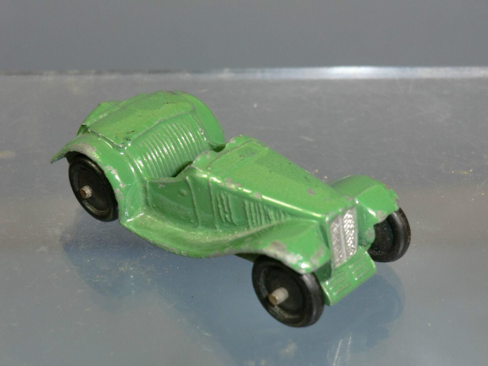 Ein schäbiger spielzeug - modell no.35c mg sportwagen  r - type  (grünen - version)