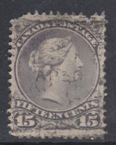 Canada-Scott-29-15-cent-grey-violet-034-Large-Queen-034