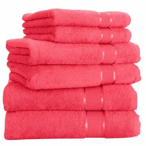 Handtuchset 2x Handtuch 2x Duschtuch 2x Badetuch 100/% Baumwolle Frottee 6tlg