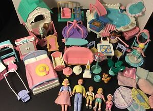 HUGE LOT Fisher Price Loving Family Dollhouse figures Accessories furniture euc
