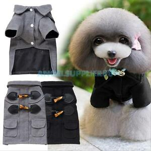 Small Pet Dog Warm Coat Button Sweater Jacket Puppy Cat Clothes Clothing Costume
