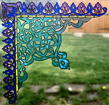 WICOART WINDOW COLOR STICKER CLING FAUX STAINED GLASS ANGLE ORIENTALE 20X20