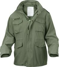M-65 Field Jacket Vintage Olive Drab Green Military Style Coat ...