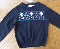 Boy Size 4t 100% Cotton Sweater Winter Clothes Skull 4 $28 Retail Skater