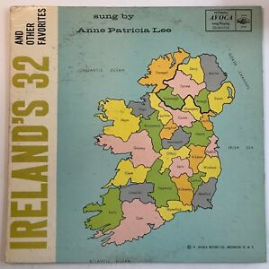 Map Of Ireland 32.Ireland S 32 And Other Favorites Anne Patricia Lee Lp Avoca 33 Av
