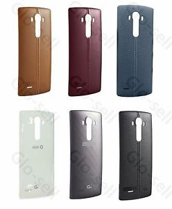 100-LG-G4-Leather-Back-Battery-Cover-Genuine-Original-case-Rear-Door-H815-F811