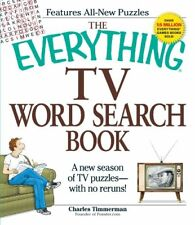 Everything®: TV Word Search Book : A New Season of TV Puzzles - With No Reruns! by Charles Timmerman (2009, Paperback)
