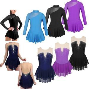 Kids-Girls-Gymnastics-Ballet-Tutu-Dress-Leotard-Dance-Skating-Ballerina-Costume
