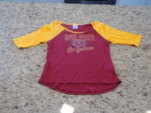 Iowa State Cyclones Rivalry Threads Girls 3//4 Sleeve Shirt Size XS S M L