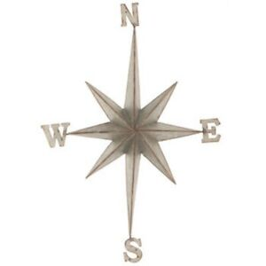 XXL-Direction-Star-Galvanized-Metal-Wall-Decor-Rustic-Nautical-Hanging-Decor