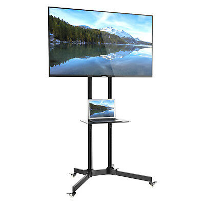 """Mobile TV Trolley Stand Mount Cart Exhibition Display for 30""""-65"""" Plasma/LCD/LED"""