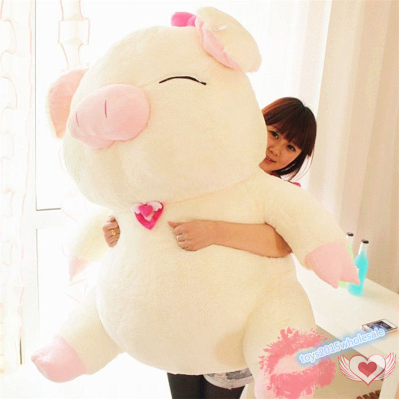 110CM Big Pig Plush Soft Toys Stuffed Animals Doll Girl Kids Xmas Gift Bolsters