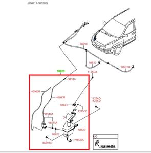 2005 2008 Kia Sportage Oem Windshield Washer Reservoir Assembly Kit 98610 1f101 Ebay