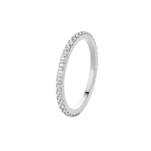 MelanO Vorsteckring Beisteck Ring schmal Sadé Größe 50 FR17SSCR Kristall