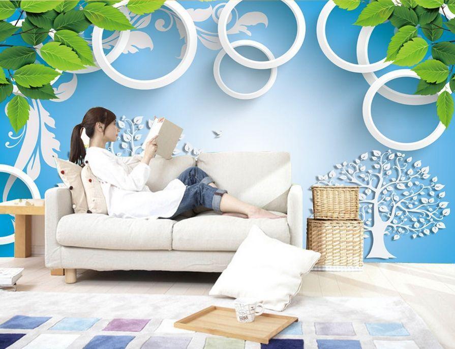 3D Art tree circle 144 Paper Wall Print Decal Wall Deco Wall Murals AJ WALLPAPER