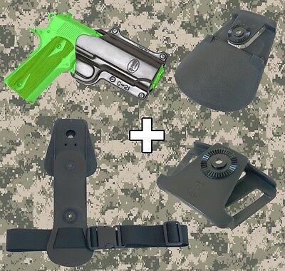 Fobus 1911 Style Handgun Combo Roto Holster Interchangeable Attachment Kit