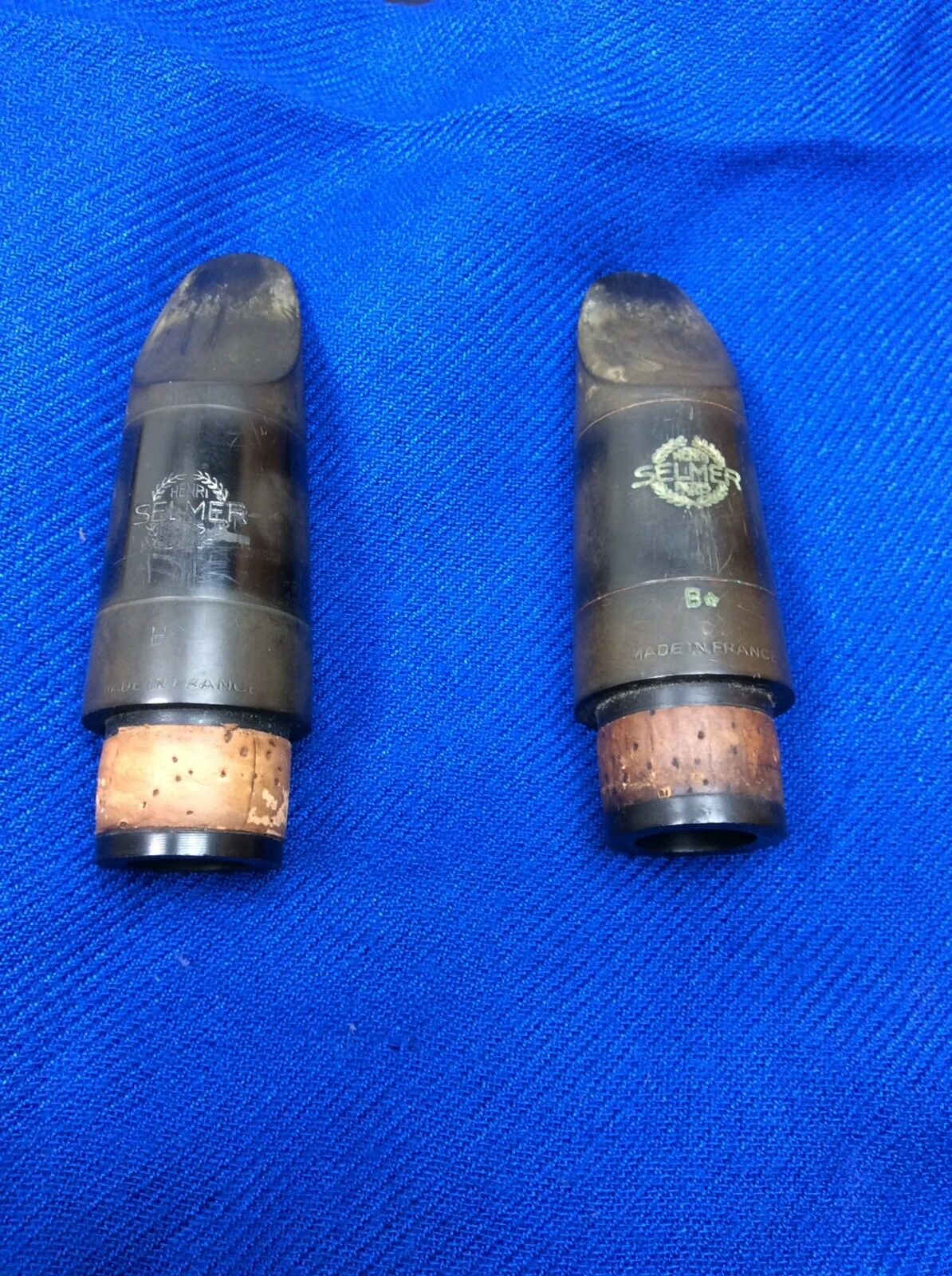 Selmer HS & B Clarinet Mouthpiece Two Piece Lot