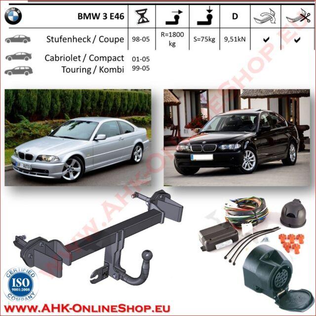 Gancio traino BMW 3 E46 1998-2005 + elettrico 13-poli OMOLOGAZIONE | NUOVO