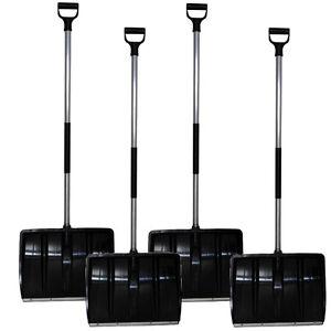 4-X-SNOW-SHOVEL-48cm-is-assembled-Snow-Shovel-M-Steel-Edge
