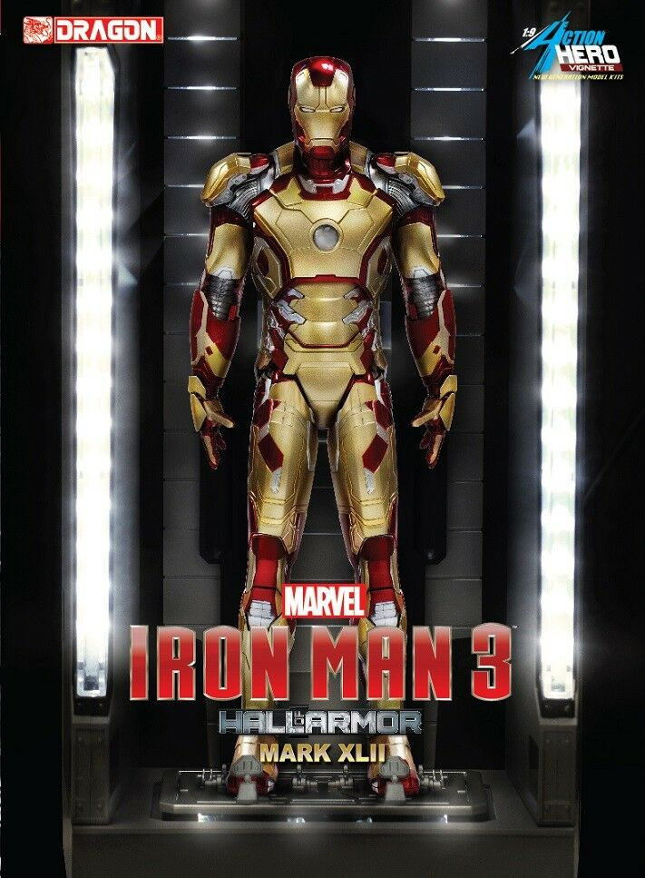 Dragon  38132 1/9 Iron Man 3 - Hall of Armor Mk.XLII Multi-Poseable