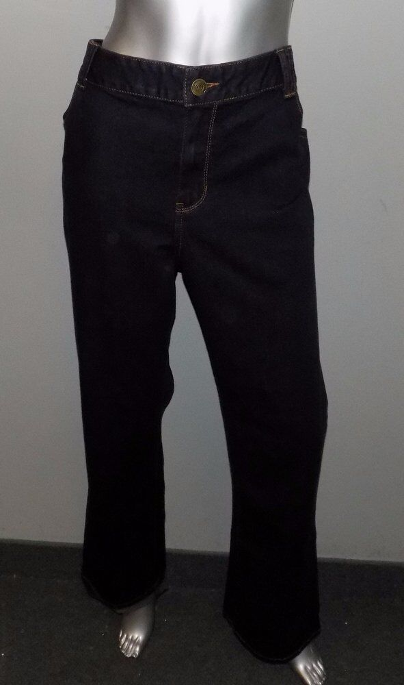 LANE BRYANT NEW Genius Fit Dark bluee Denim Slim Bootcut Jeans Plus sz 22W