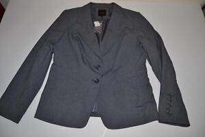 Charcoal Størrelse Ny Coat Limited Kvinder 2 The 14 Button Jacket Grey qSw74
