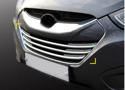Zubehör für Hyundai ix35 Chrom Grill Leisten Blenden Radiator Grill Molding