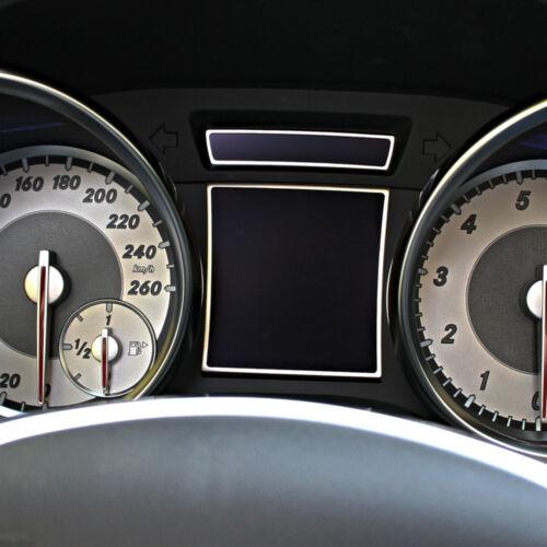 Mercedes slk 172 bordes decorativos velocímetro aluminio r172 fl 280 200 350 amg55 amg45