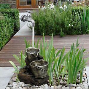 Wasserhahn Brunnen.Details Zu Innen Außen Polyresin Wasserhahn Brunnen Element Led Lichter Garten Statue