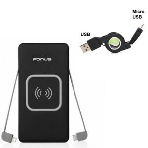10000mAh-Power-Bank-Charger-w-USB-Cable-Retractable-MicroUSB-for-Cell-Phones