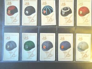 Carreras-VINTAGE-SCHOOL-CAP-BADGE-CREST-SYMBOL-set-50-Tobacco-Cigarette-cards