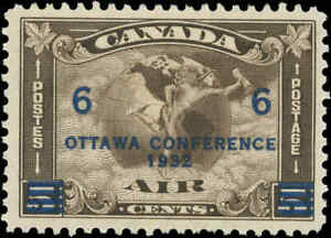 1932-Canada-Mint-Hinged-F-Scott-C4-C2-Surcharged-Air-Mail-Issue-Stamp