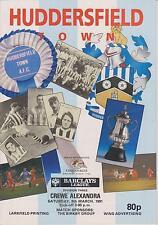 Crewe Alexandra Huddersfield Town V 90-91 partido de Liga