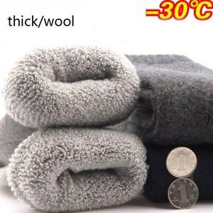 1 Pair Mens Super Warm Heavy Thermal Merino Wool Winter Socks ONE SIZE