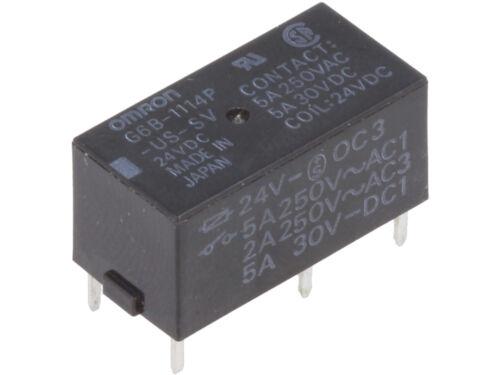 G6B-1114P-US-SV 24VDC  Omron  Relay Relais SPST-NO  24VDC  5A 2880R #BP 1 pc