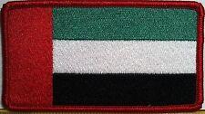 United Arab Emirates  Flag Iron On Patch  Emblem Red Border