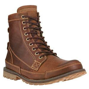 Details about Men s Timberland Earthkeepers Original Leather 6   Boot Brown  Burnished 15551 4d987e206692