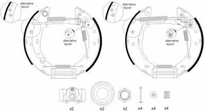 Mintex Rear Brake Pad Set MVK0034