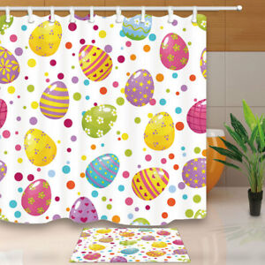 Image Is Loading Easter Eggs And Confetti Bathroom Shower Curtain Set