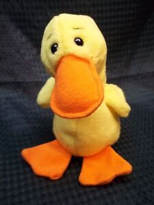 Image is loading TY-Beanie-Babies-6-034-Yellow-Duck-QUACKERS 99e40df8f3d