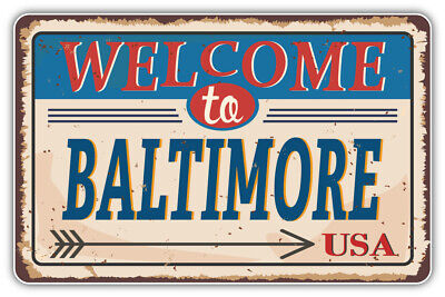 Baltimore City USA Vintage Emblem Car Bumper Sticker Decal /'/'SIZES/'/'