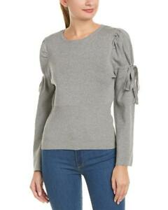 Anthropologie-Gray-Bell-Sleeve-Sweater-Top-Small